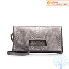 New animal skin PU foldable bag clutch bag middle-open fashionable ladies bag