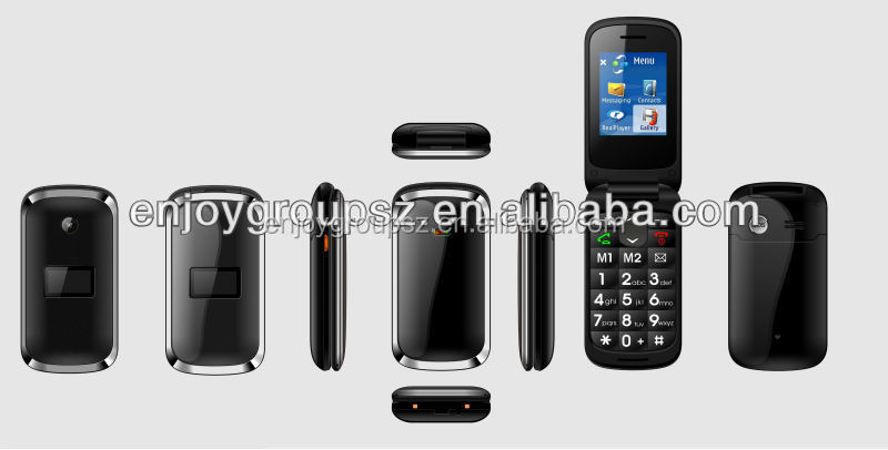 W73 very cheap price, flip quad core, sos cell phones for senior