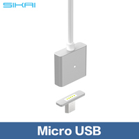 New Arrival Metal Magnetic Cable Data Charger Cable For Micro USB Android Phone For Micro USB v2.0