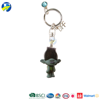FJ Brand cute double keyring gift key chain for kids customize metal keychain
