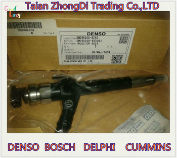 DENSO common rail injector 095000-6250 for N ISSAN Navara 16600-EB70A, 16600-EB70D