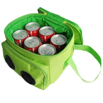 Cheap wholesale 6 can soft cooler with speaker