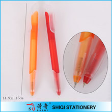 Transparent color plastic parker pen