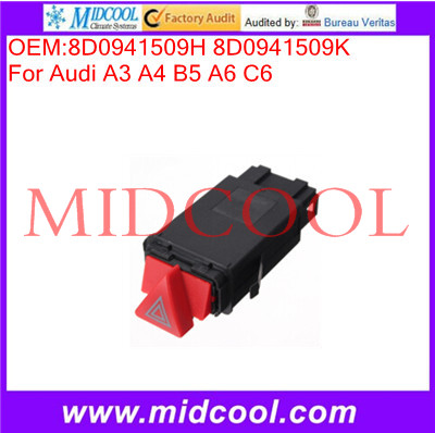 High Quality HAZARD WARNING LIGHT SWITCH FOR AudI A3 A4 B5 A6 C6