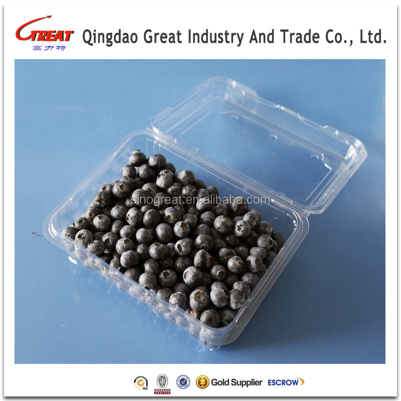 Fresh berry packaging tray container plastic blueberry fruit blister packing tray
