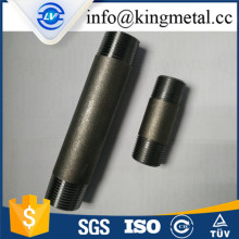 "Hot sale NPT thread SCH40 6"" long black pipe nipple"