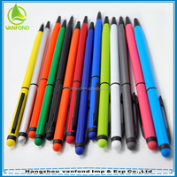2 in 1 promotional capacitive metal stylus touch screen ballpoint pen