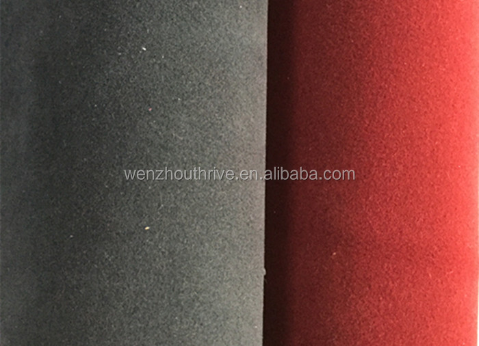 Factory price Double Flocking suede leather for making shoes