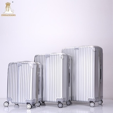 Factory OEM ODM High quality PC best cool travel silver pc travel suitcase four wheel pc suitcase