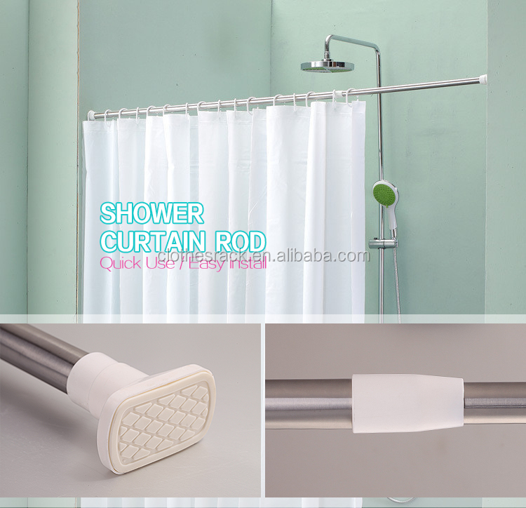 Factory price bathroom telescopic adjustable shower curtain pole