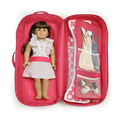 Factory direct Fits Girl Dolls Rocking Bed and Bedding Trolley Travel Case toy Doll