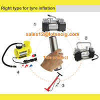 Multi-function electric tire inflator for car and bicycle