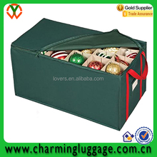2015 cheaper fabric foldable zipper storage box for chirstmas accessories and ornament