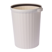 New design High quality Big capacity home & office monochromatic Plastic Round portable Trash Can Garbage Bin without Lid