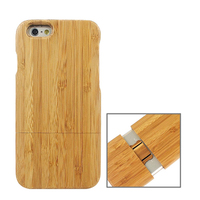 Mobile Accessory Detachable Wooden Case for iPhone 6s, for iPhone 6s Bamboo