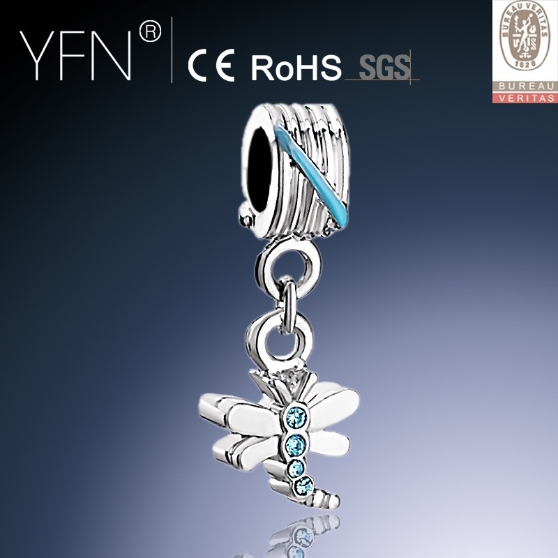 925 Sterling Silver Dragonfly Charms Wholesale