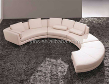Living Room Sectional big size pu leather curved sofa bed