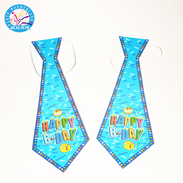 2018 Wholesale most popular party supplies paper necktie for birthday party