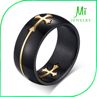wholesale stainless steel black ring