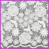Good quality swiss george scalloped edge lace fabric WLF32