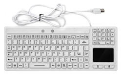 Medigenic Compliance Medical Keyboard with Touchpad in Hospital and Medical Environments