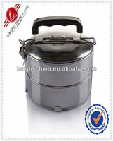 Food 14cm*2 Hard Liner Stainless Steel Tin Bento Lunchbox