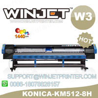 Deruge with konica 512 14pl solvent ink flex printing machine with 512 14pl head konica outdoor banner p 5 meter