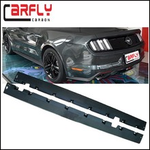 New arrival Mustang GT carbon fiber body kits side skirts for Mustang GT 2015up
