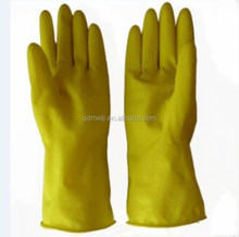Hand protection latex household gloves yellow long latex rubber gloves