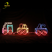 PVC Outdoor Lighted Christmas Train