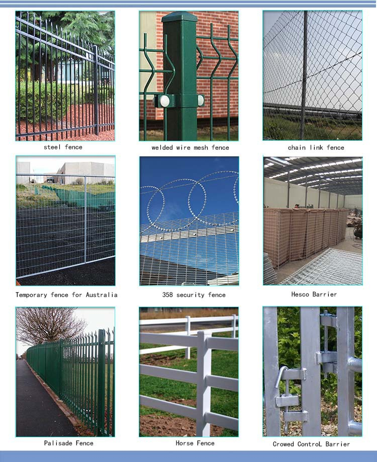 3.8/4.0mm polyester coating bending welded wire mesh fence
