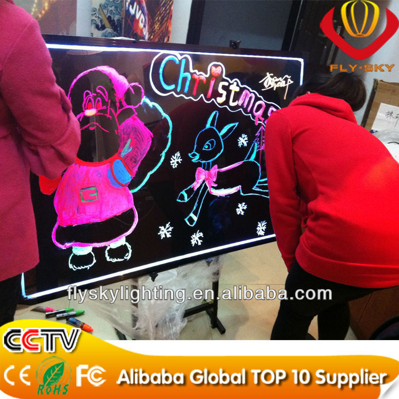 aliexpress Flashing LED Writing Board with Aluminum Alloy Frame for advertising CE&ROHS