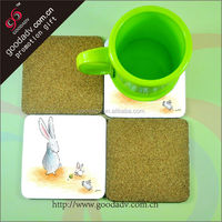 User-friendly good use anti-heat table accessories MDF wood coaster holder / handmade wooden coaster