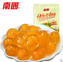 Mango flavored mango juice center filled yummy gummy ball candy