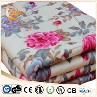 Detachable Connector Washable 100% Anti-Pilling And Portable Synthetic Wool Electric Heated Blanket for Whole Family