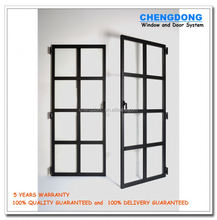 factory price aluminium interior front main entrance single door frame designs, commercial double tempered glass cheap doors