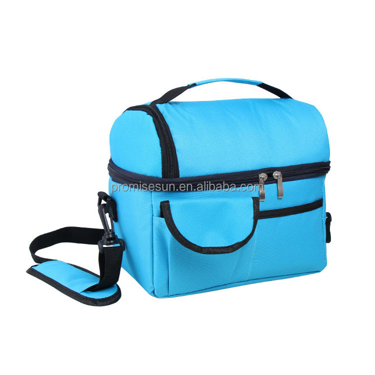 Colourful oxford cloth insulated food cooler lunch bag,shoulder golf cooler bag