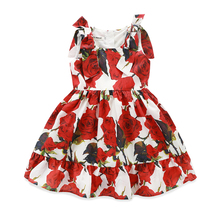 Formal Latest Fashion Attractive Party Rose Flower Girl Dress Patterns