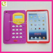 unique telephone 3d silicone case for ipad mini,soft durable silicone for ipad,wholesale high quality