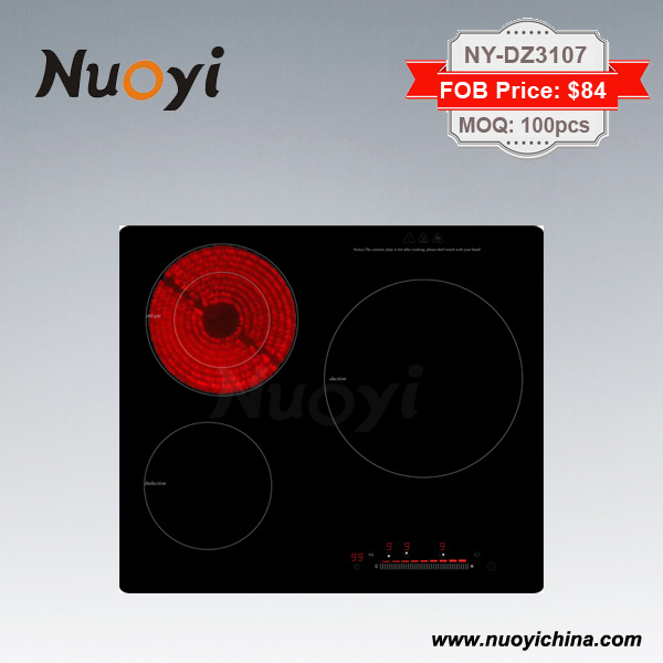 Electric Cooktop Induction/Infrared/Ceramic Cooker Hob with 3 Burners
