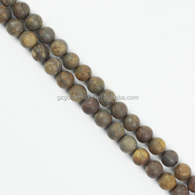 China wholesale natural beads bronzite matte gemstone round beads