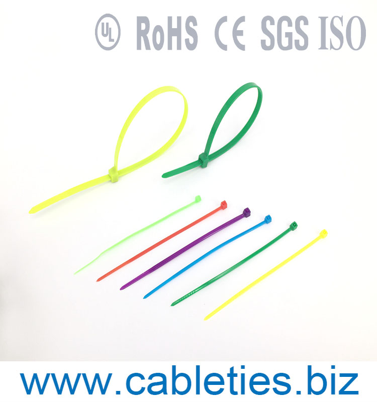 100% new PA66 CE Rohs UL yellow color nylon 66 plastic cable tie