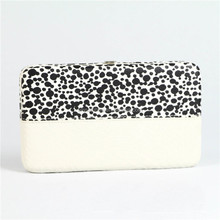 Printed PU Leather Flat Clutch Opera Women's Wallet