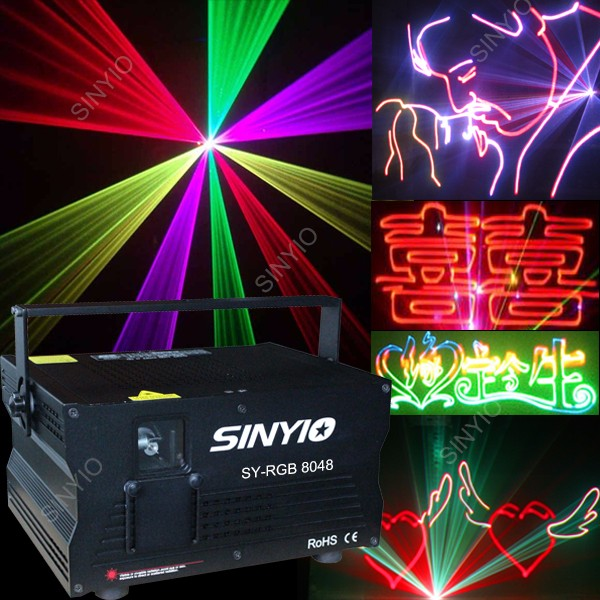 ILDA control 4.8W RGB full color sound active laser light for wedding laser show