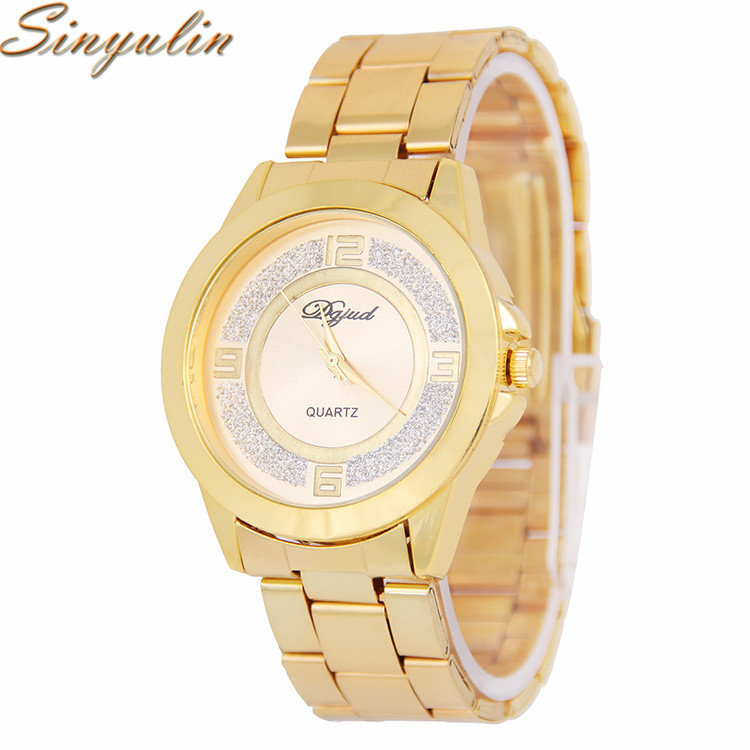Sinyulin Alloy Luxury Watch Brands For Men Stainless Steel Material Fashion Lady Watch