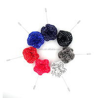 Do manual work is delicate polka dot rose shape flower lapel pin for suit