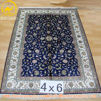 4x6ft Nanyang factory handmade handwoven oriental silk carpet white wedding carpets and rugs