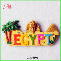 YC1416805Promotion gift item Egypt archaistic tourist souvenir 3d resin fridge magnet