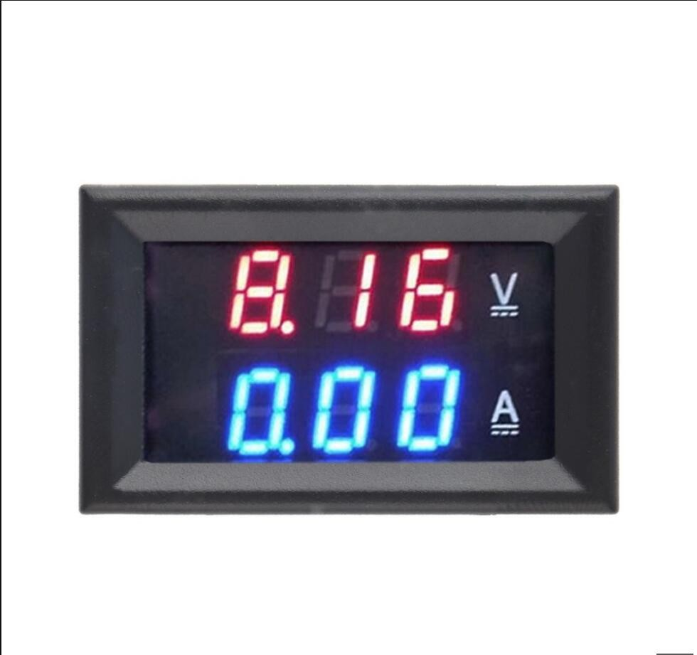 DC <strong>0</strong>-100V 10A Digital Voltmeter Ammeter Dual Display Voltage Detector Current Meter Panel Amp Volt Gauge <strong>0</strong>.28&quot; Red Blue LED