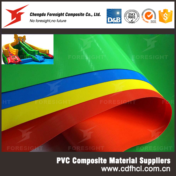 Fire Retandant High Tensile Strength PVC Inflatable Cloth for Kids Bouncy Castle Water Slide